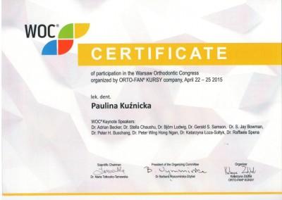 Demed ortodonta Kuznicka Paulina WOC 2015 04 22-25